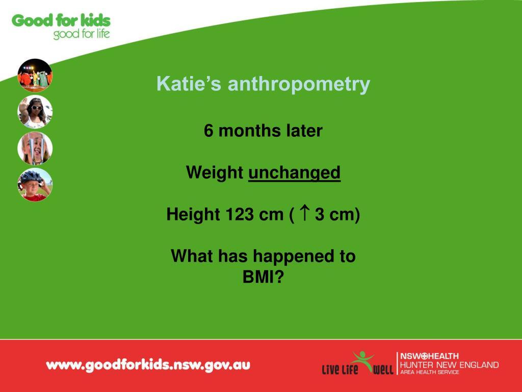Katie's anthropometry
