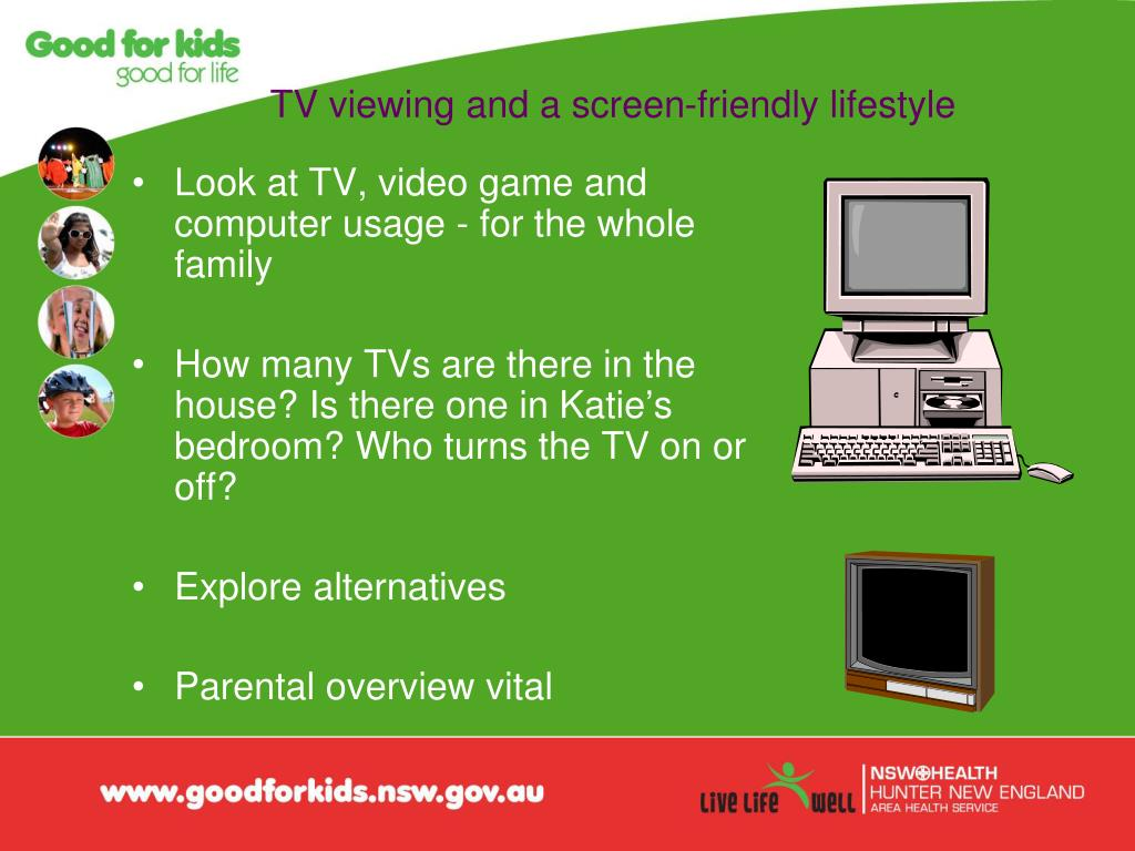 TV viewing and a screen-friendly