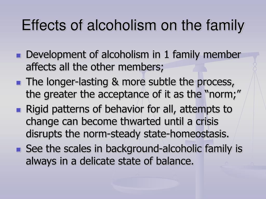 effects of alcohol on the family