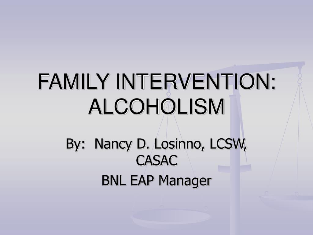family intervention alcoholism l.