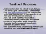 treatment resources