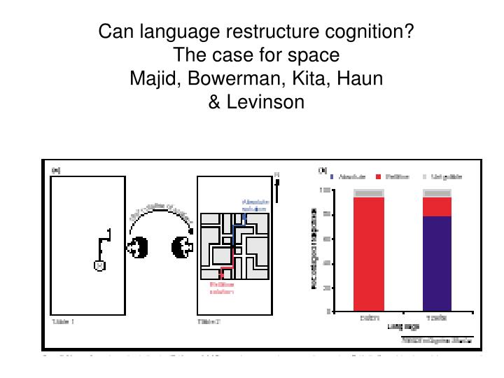 Can language restructure cognition?