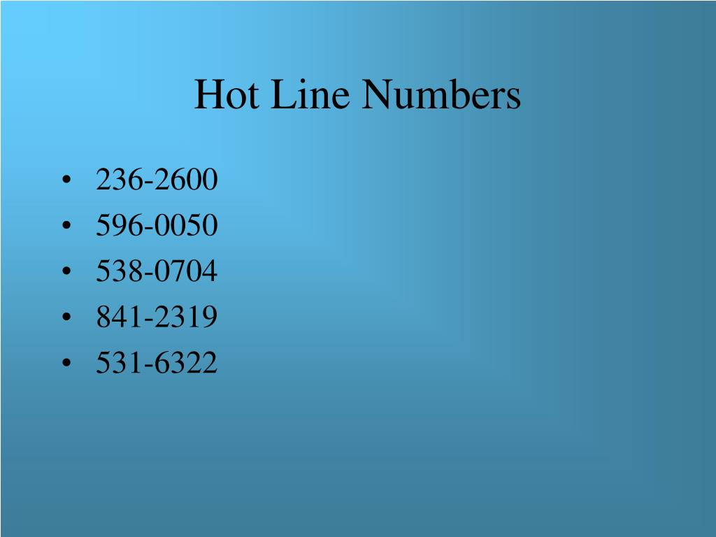 Hot Line Numbers