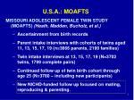 u s a moafts