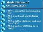 alcohol states of consciousness