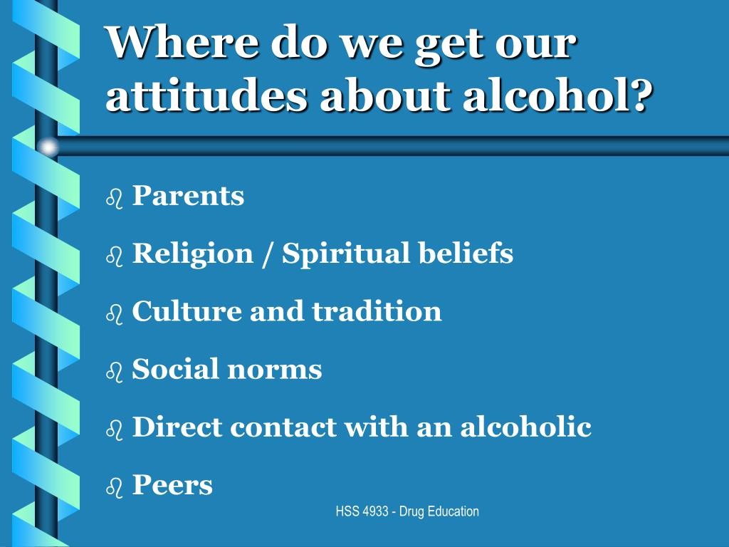 Where do we get our attitudes about alcohol?