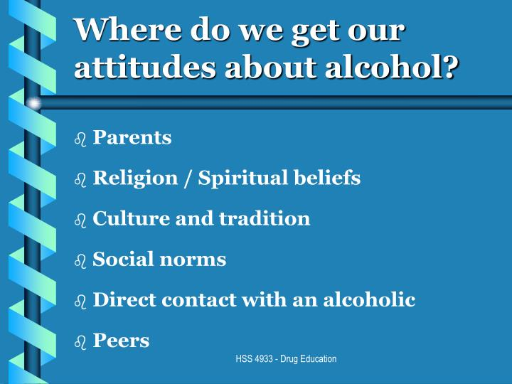 Where do we get our attitudes about alcohol