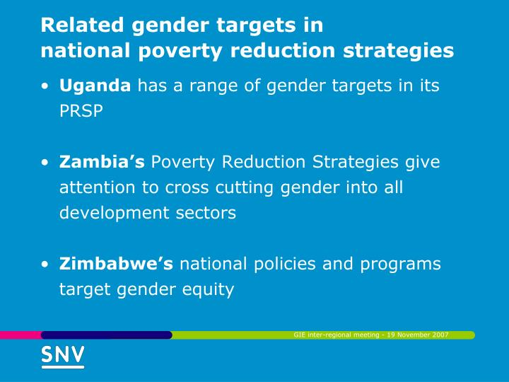 Related gender targets in