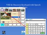 vsd onscreen keyboard with speech synthesis
