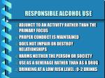 responsible alcohol use