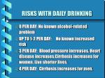 risks with daily drinking