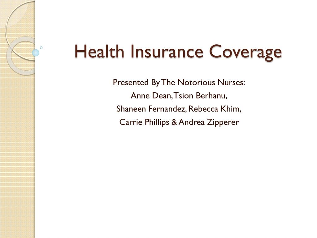 health insurance coverage l.