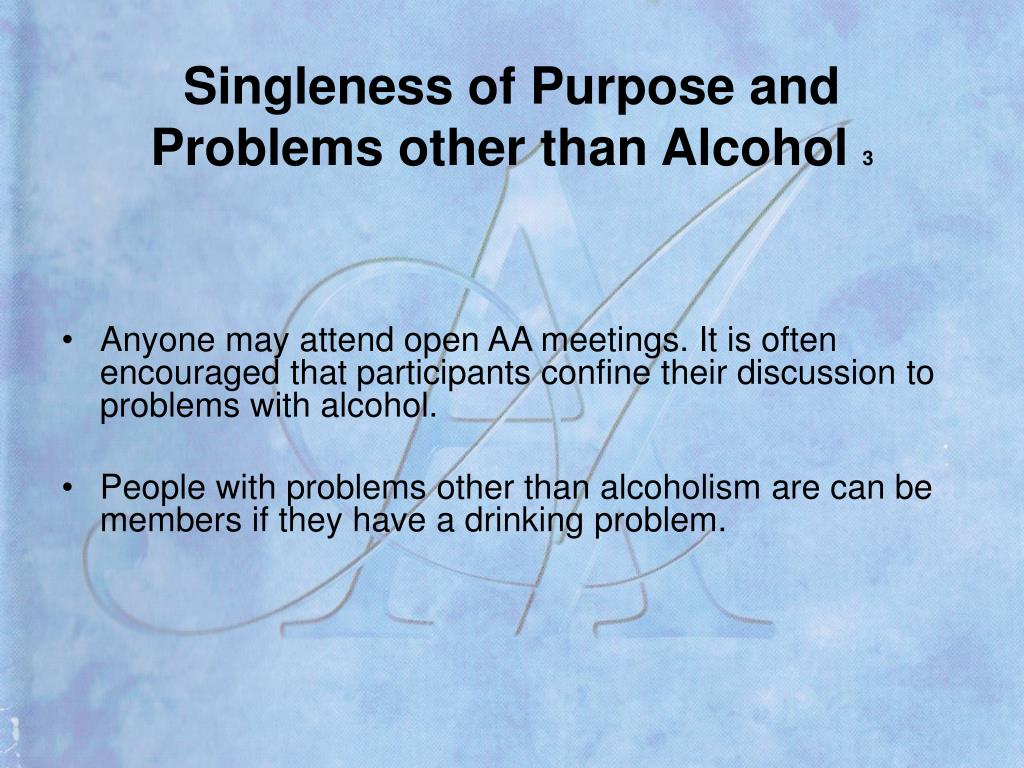 Singleness of Purpose and
