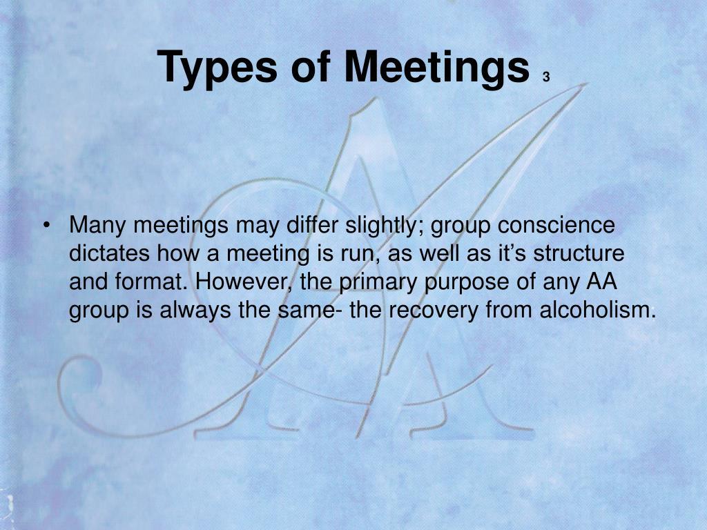 Types of Meetings