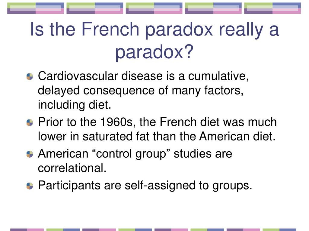 Is the French paradox really a paradox?