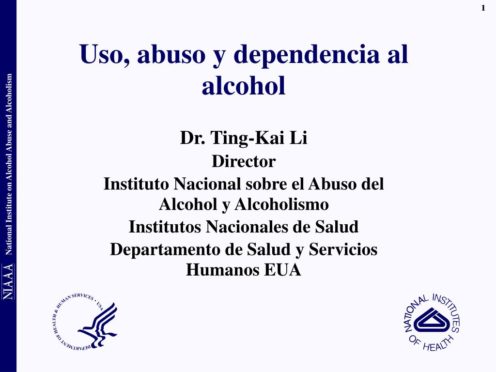 uso abuso y dependencia al alcohol l.