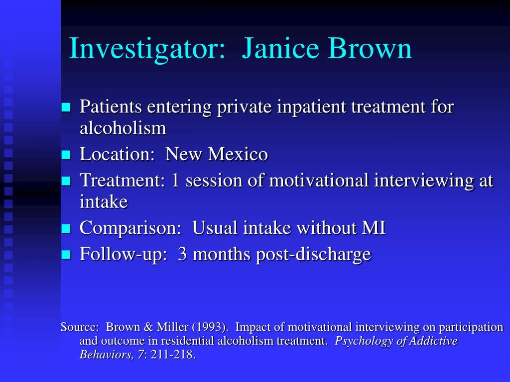 Investigator:  Janice Brown