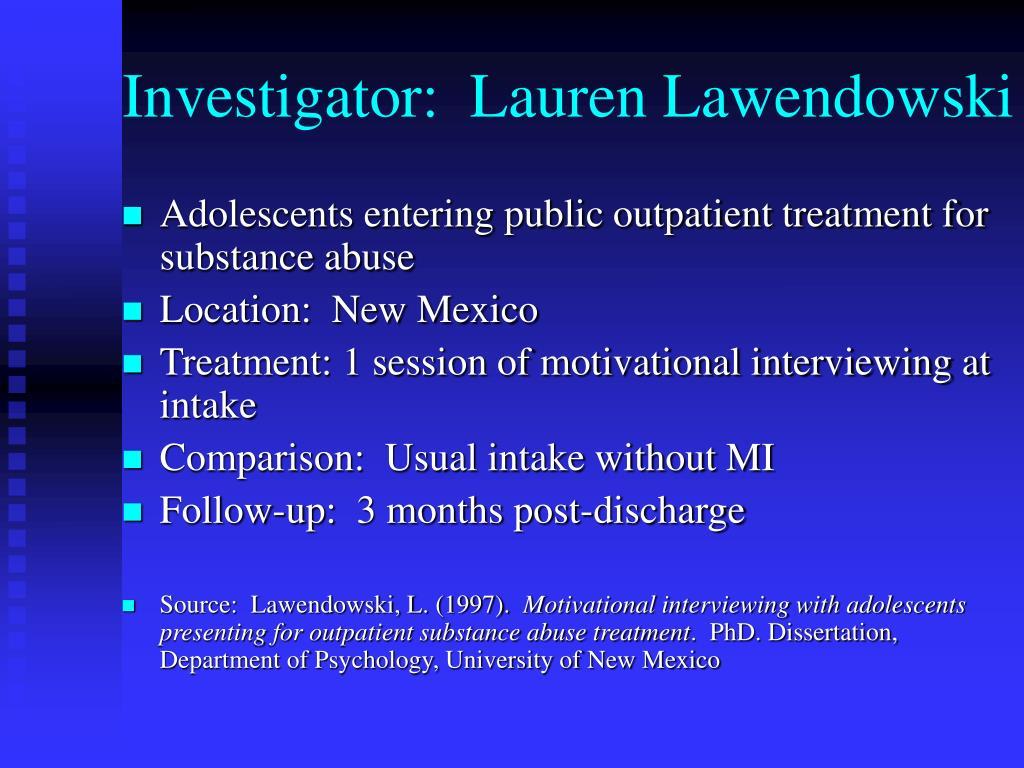 Investigator:  Lauren Lawendowski