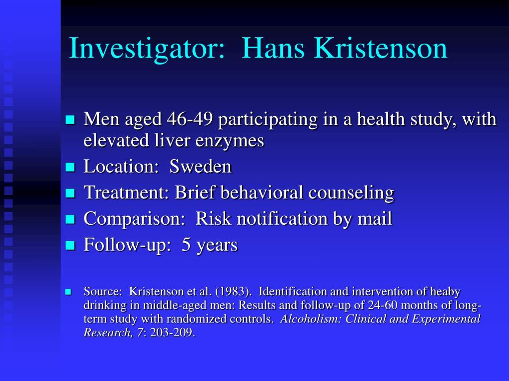 Investigator:  Hans Kristenson