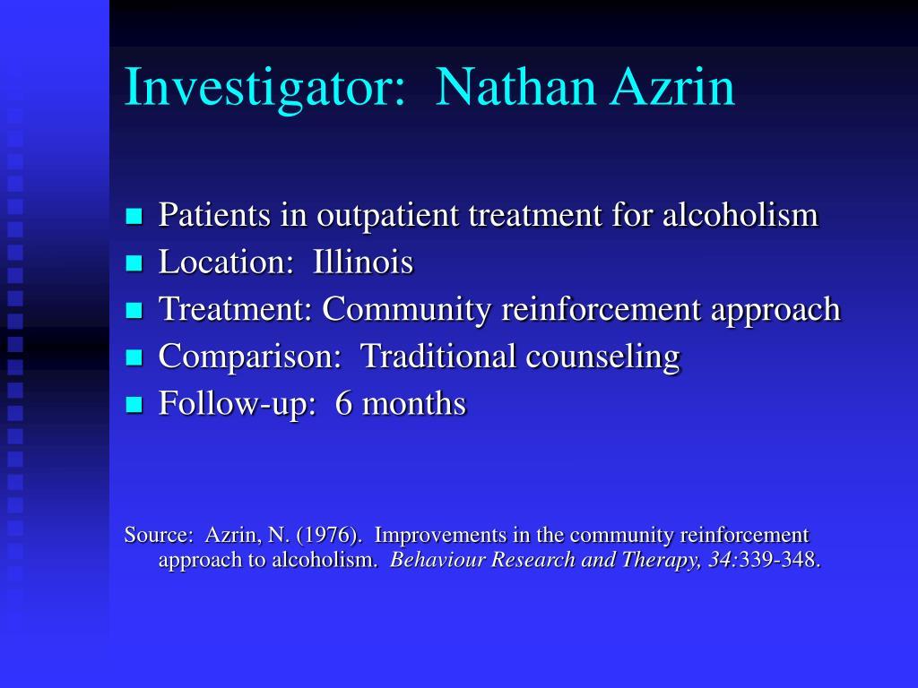 Investigator:  Nathan Azrin
