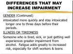 differences that may increase impairment18