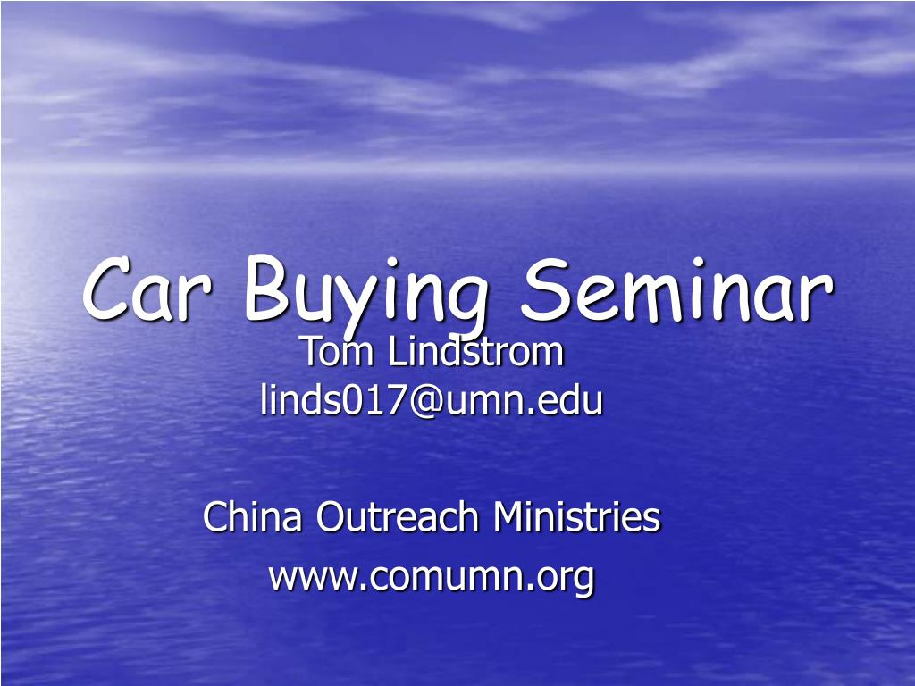 car buying seminar l.