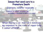 issues that send cars to a premature death