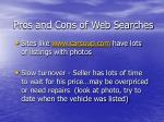 pros and cons of web searches