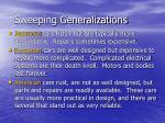 sweeping generalizations