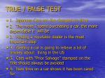 true false test