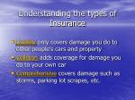 understanding the types of insurance