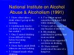 national institute on alcohol abuse alcoholism 1991