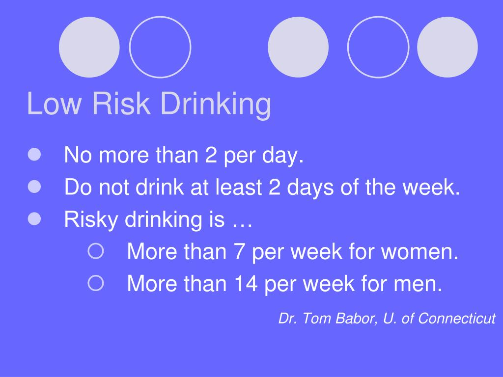 Low Risk Drinking