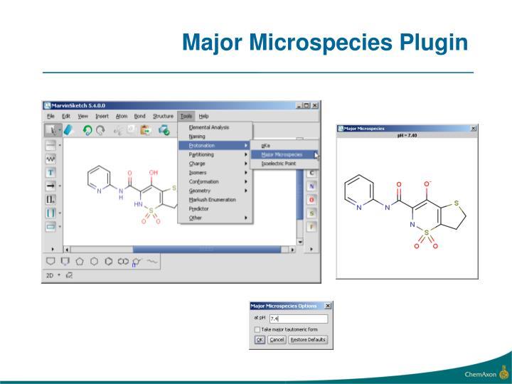 Major Microspecies Plugin