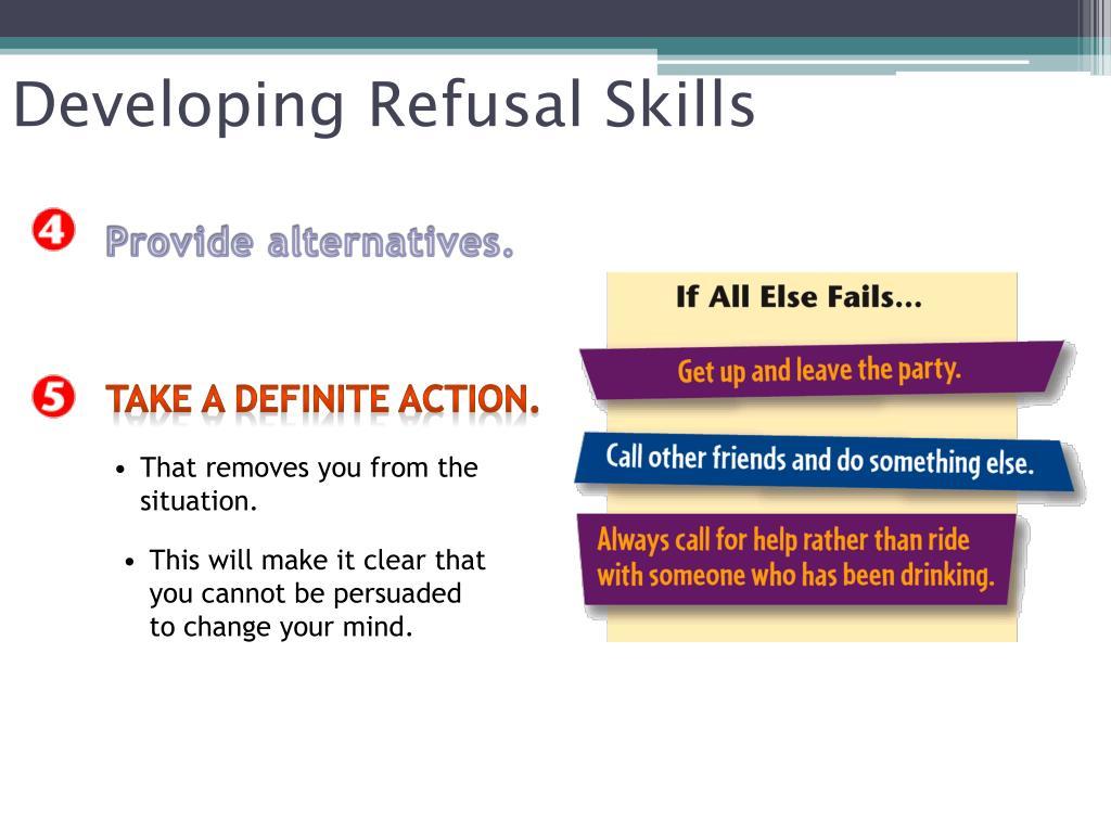 Developing Refusal Skills
