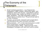 the economy of the galapagos