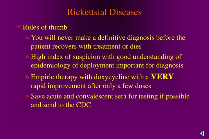 Rickettsial Diseases