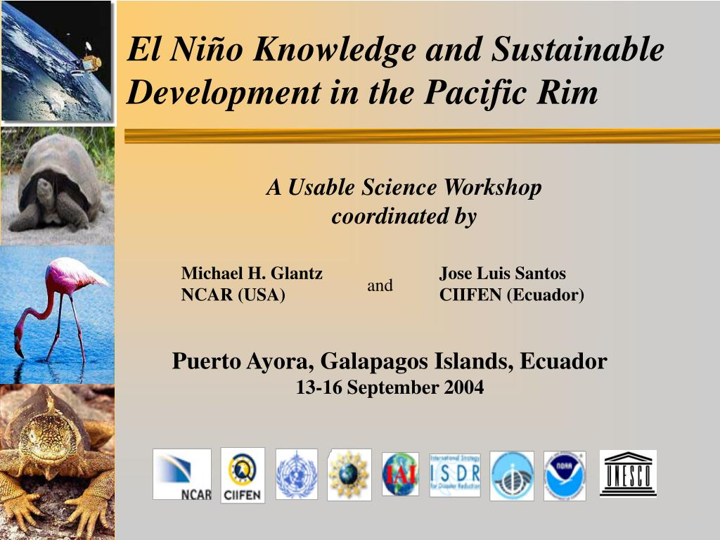 el ni o knowledge and sustainable development in the pacific rim l.