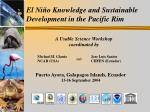 el ni o knowledge and sustainable development in the pacific rim