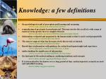 knowledge a few definitions