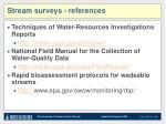 stream surveys references