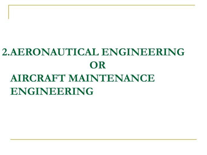 2.AERONAUTICAL ENGINEERING