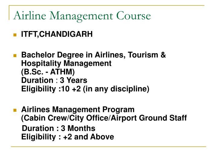 Airline Management Course