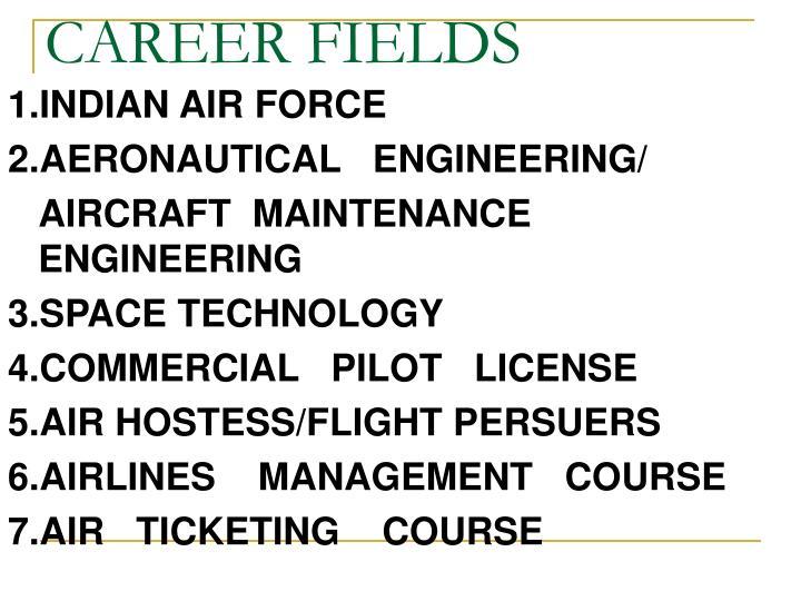 Career fields