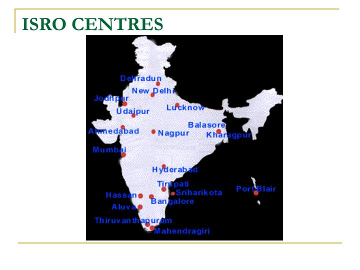 ISRO CENTRES