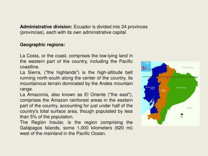 Administrative division: