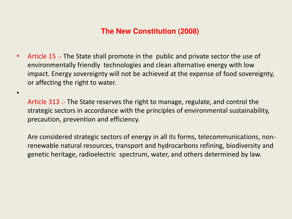 The New Constitution (2008)