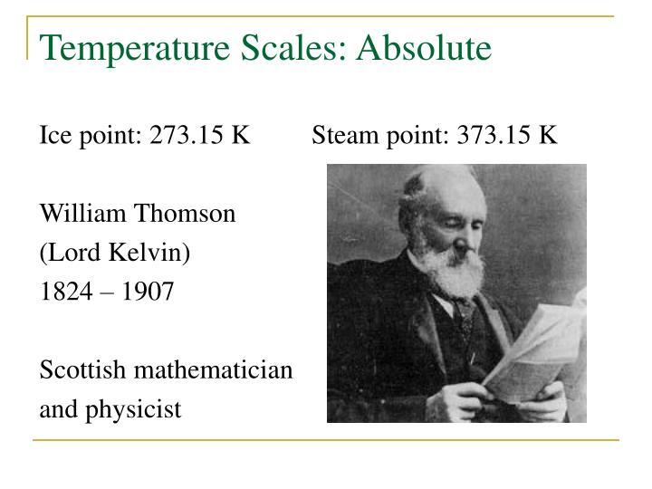 Temperature Scales: Absolute