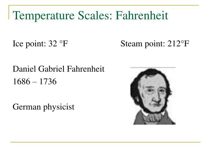 Temperature Scales: Fahrenheit
