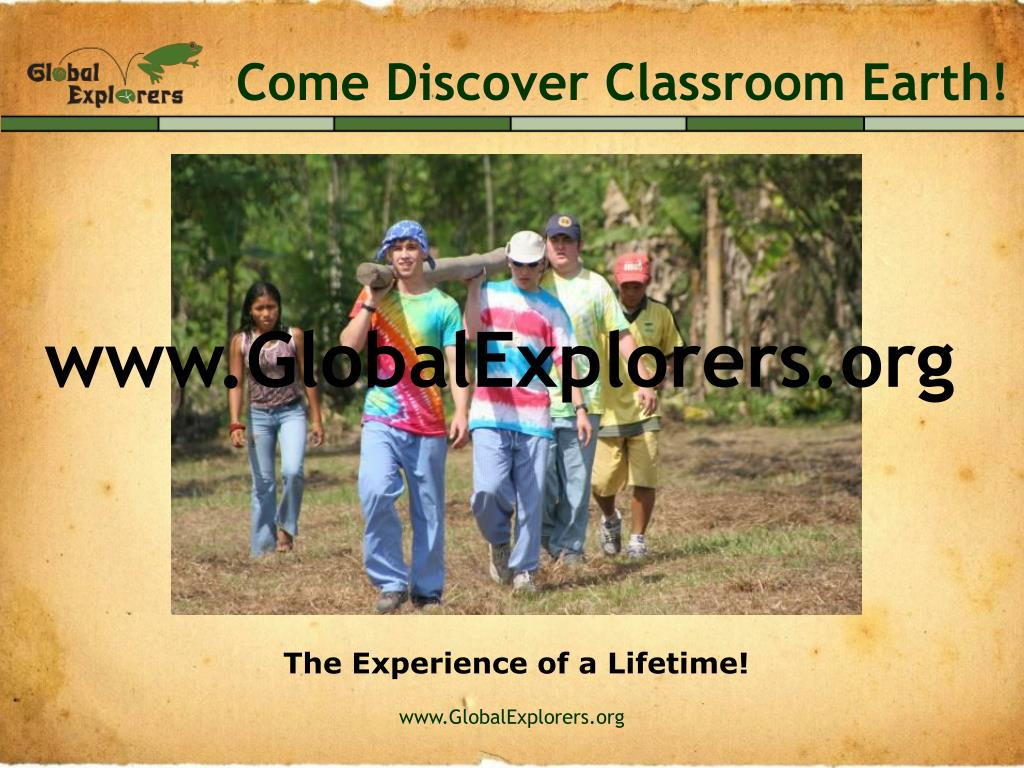 Come Discover Classroom Earth!
